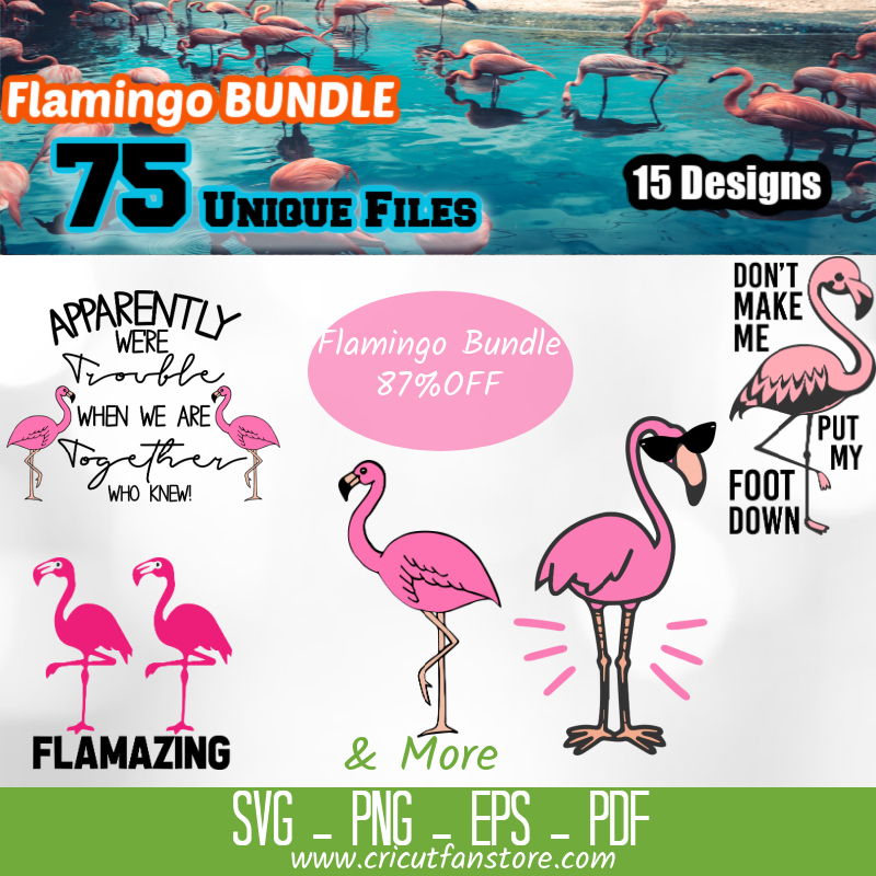Flamingo Bundle, 75+ SVG Files 85% OFF