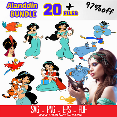Aladdin Disney Svg Bundle 95% OFF