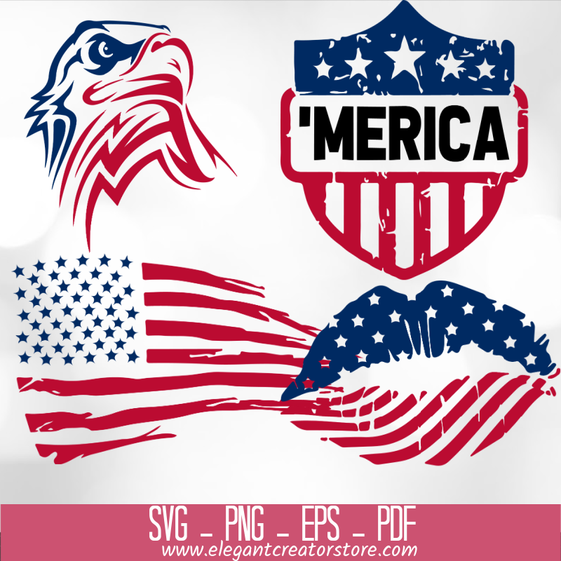 4th of July Bundle SVG 72+ Files Special 99% OFF