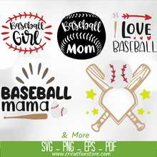 Load image into Gallery viewer, BASEBALL  Bundle SVG 70+ Files Special 95% OFF