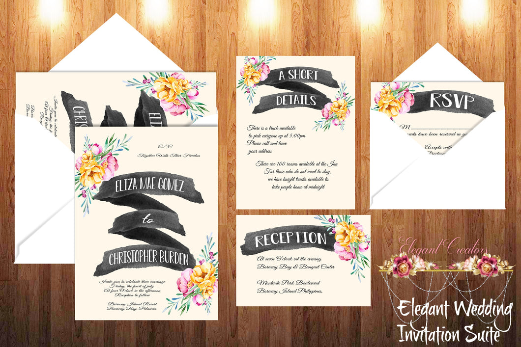 Printable Wedding Invitation The New Love Bound