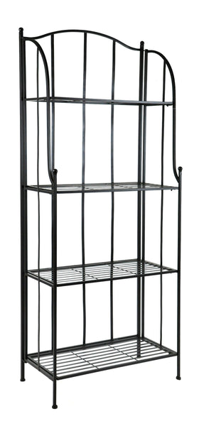 Iron Etagere 4 layer M.Black L60W30H150