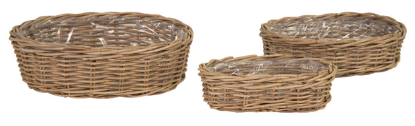 Laura Oval Basket -F- Natural S3 L33/45W20/32H9/15