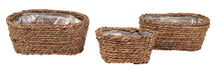 Around Oval Basket Brown S3 L21/30W11/20H11/13