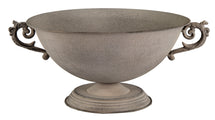 Roman Bowl 2 Ears Grey D31.5H18