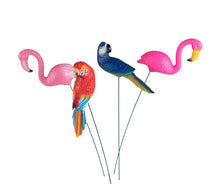 Gardenstick 2 Flamingo And 2 Parrot L19W8L60