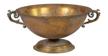 Roman Bowl 2 Ears Old Gold D31.5H18