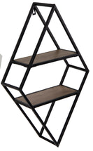 Home Wallhanger Rhombus Black L38W12H62