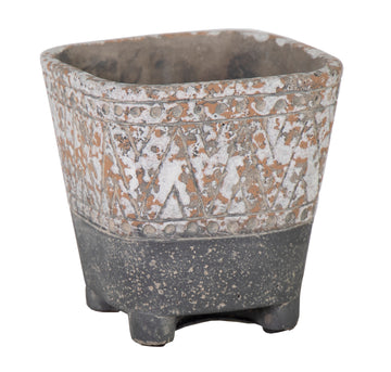 Diara  Square Pot Grey W18H18