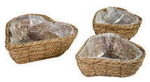 Around Heart Basket Natural S3 W22/38H9/11