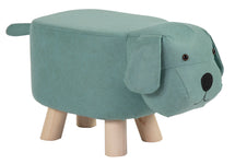 Animal Stool Dog Light Blue L50W28H24