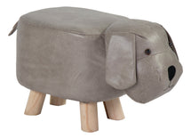 Animal Stool Dog Grey L50W28H24
