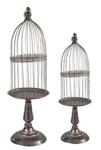 Roman Plant Cage High Old Silver S2 D25/32H78/86