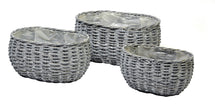 Basket Belly Oval Grey S3 L25/36W16/26H15/17
