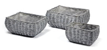 Basket Belly Rectangular Grey S3 L25/36W16/26H15/