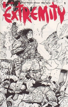 EXTREMITY #1 BLACK & WHITE ASHCAN VARIANT