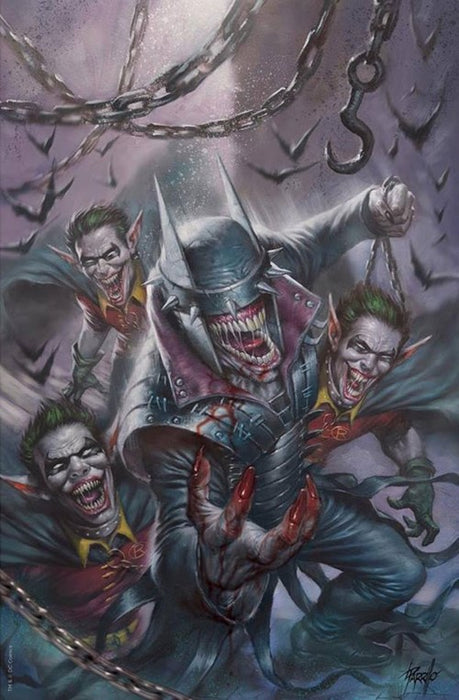 THE BATMAN WHO LAUGHS #1 SCORPION COMICS PARRILLO EXCLUSIVE VIRGIN (LTD TO 1000)