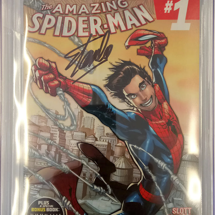 Amazing Spider-Man #1 (2014) CGC SS 9.8 signed by Stan Lee