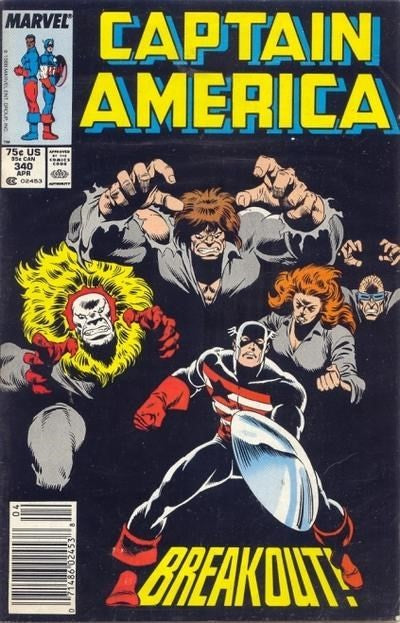 CAPTAIN AMERICA #340 (NEWSSTAND EDITION)