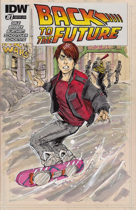 Marty McFly Original Art by Phil Buckenham