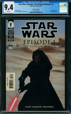 STAR WARS EPISODE I THE PHANTOM MENACE #3 PHOTO CVR CGC 9.4