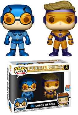 Funko POP! DC Blue Beetle & Booster Gold PX Exclusive 2 Pack Vinyl Figures
