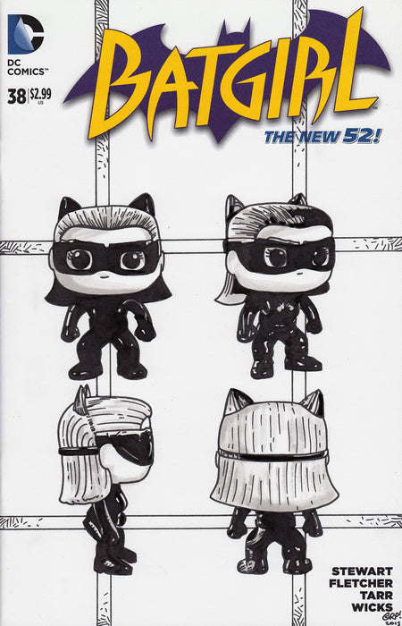 Catwoman POP! Original Art by Gary Parkin