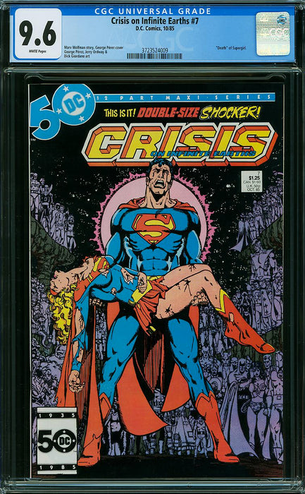 CRISIS ON INFINITE EARTHS #7 CGC 9.6