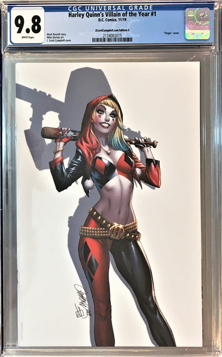 HARLEY QUINN'S VILLAIN OF THE YEAR #1 CAMPBELL CVR E CGC 9.8