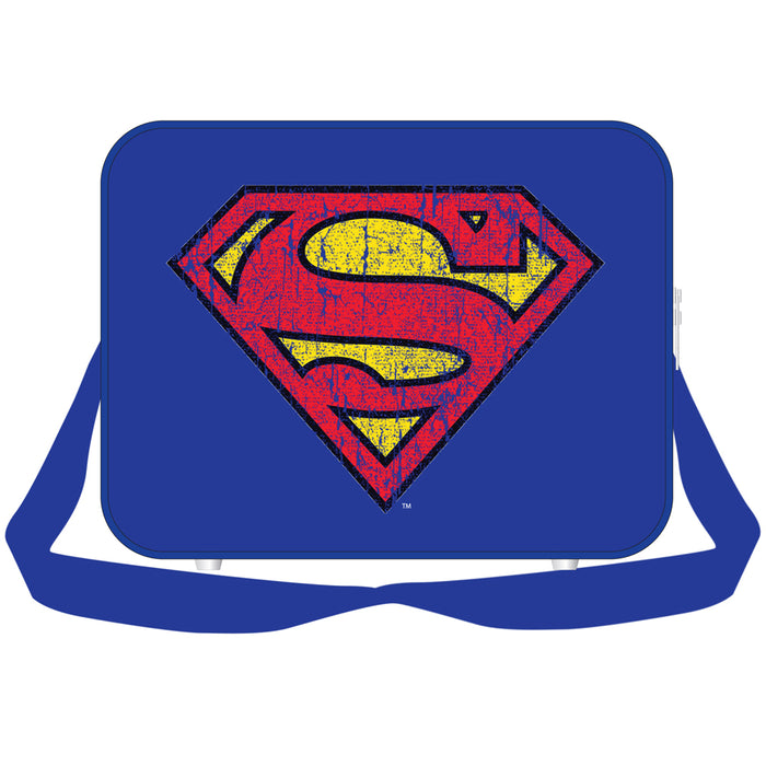 DC Superman Distressed Logo Messenger Bag