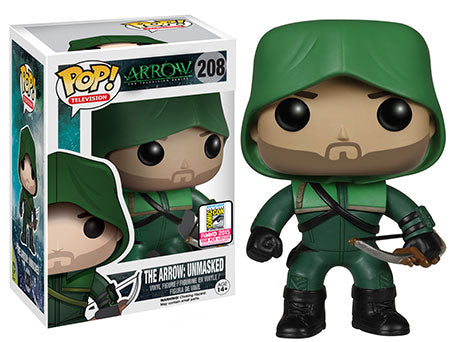 Funko POP! The Arrow: Arrow Unmasked SDCC exclusive Vinyl Figure