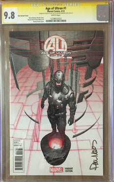 AGE OF ULTRON #1 KIM VARIANT SIGNED STAN LEE & MOUNTS CGC 9.8