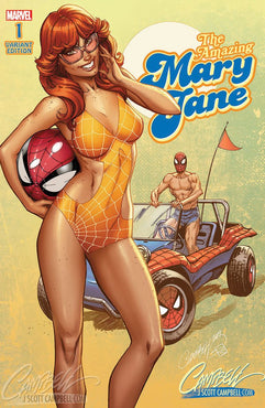 AMAZING MARY JANE #1 J SCOTT CAMPBELL 70'S EXCL. 1500