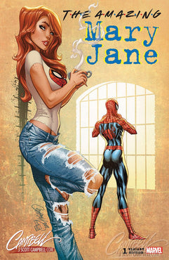 AMAZING MARY JANE #1 J SCOTT CAMPBELL 90'S EXCL. 2500