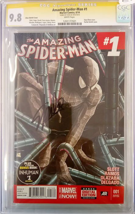 Amazing Spider-Man #1 (2014) Supernova Sketch CGC SS 9.8 signed by Stan Lee