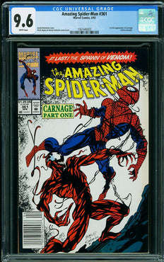 AMAZING SPIDER-MAN #361 CGC 9.6 (NEWSSTAND)