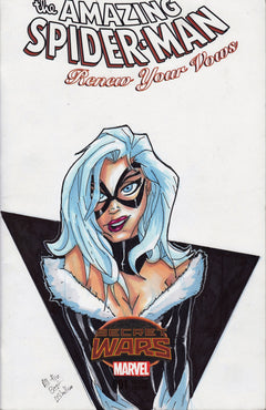 Black Cat Original Art by Liam Shalloo