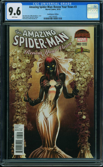 AMAZING SPIDER-MAN: RENEW YOUR VOWS #3 VARIANT CGC 9.6
