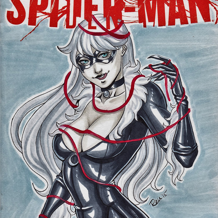 Black Cat Original Art by Rennie Florence