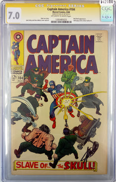 Captain America #104 CGC SS 7.0 signed by Stan Lee