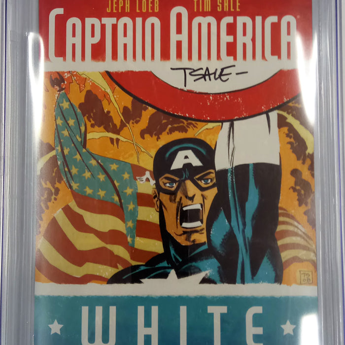 Captain America: White CGC SS 9.8 signed by Tim Sale