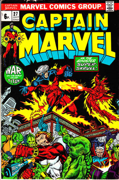 Captain Marvel (1968) #27 VFNM
