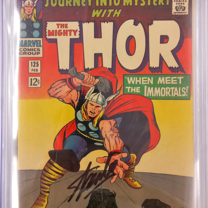 JOURNEY INTO MYSTERY #125 CGC SS 5.0 SIGNED STAN LEE