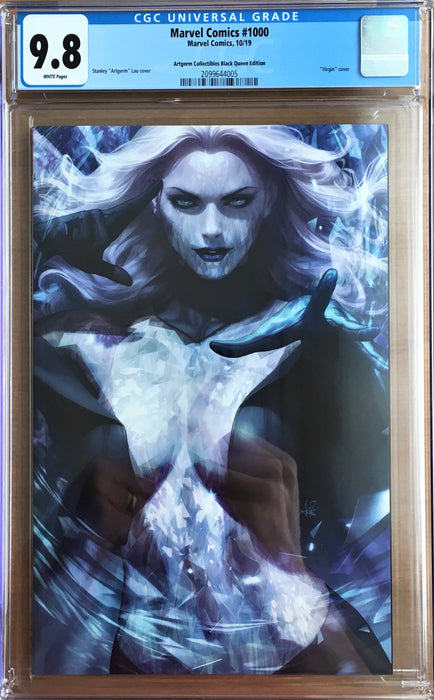 MARVEL #1000 BLACK QUEEN STANLEY ARTGERM LAU EXCLUSIVE CGC 9.8