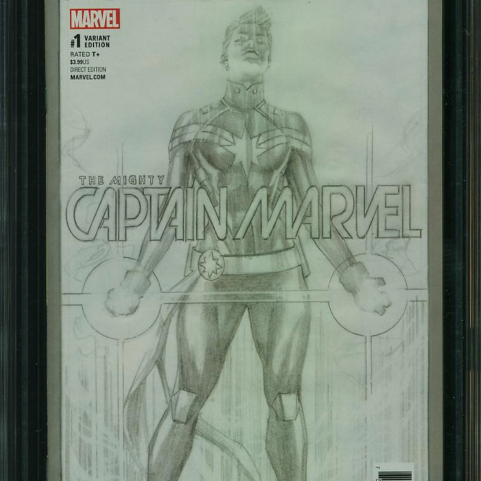 MIGHTY CAPTAIN MARVEL #1 ROSS 1:100 VARIANT CGC 9.6