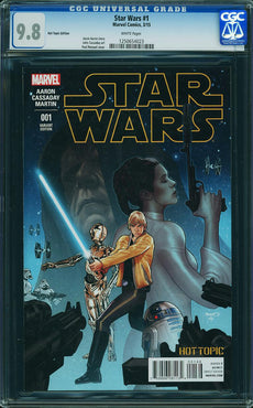 STAR WARS #1 (2015) HOT TOPIC EXCLUSIVE CGC 9.8