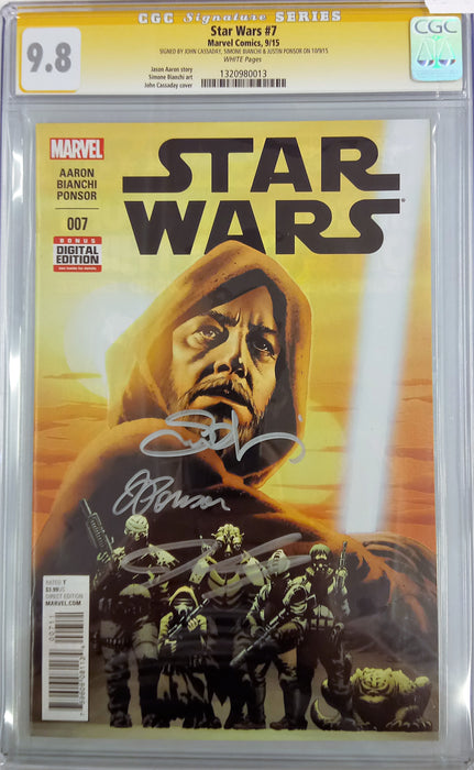 STAR WARS #7 CGC SS 9.8 SIGNED BY CASSADAY, BIANCHI & PONSOR