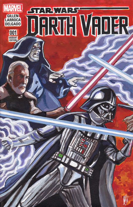 Star Wars Connecting part 1 Darkside Original Art by Lee Lightfoot