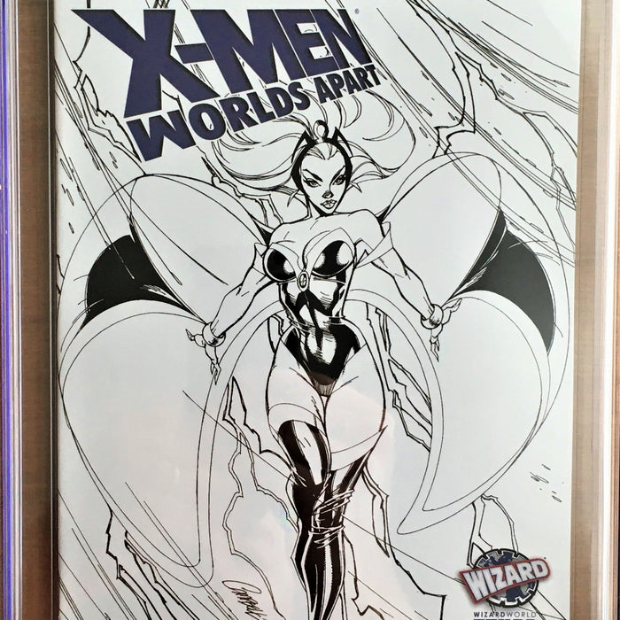 X-MEN WORLD'S APART #1 J SCOTT CAMPBELL WIZARD WORLD EXL. CGC 9.8