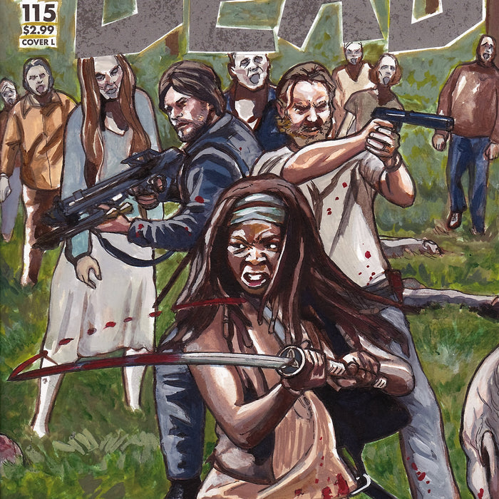 Walking Dead Zombie Apocalypse Original Art by Lee Lightfoot